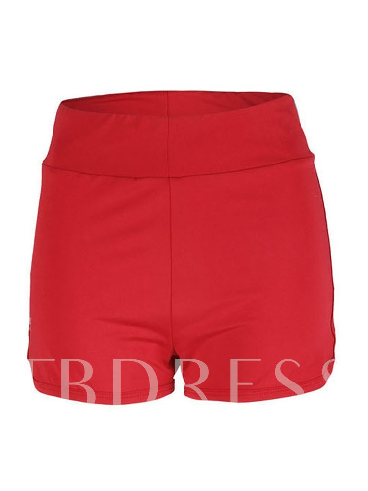 Pleated Slim Women's Shorts
