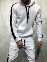Pocket Color Block Pants Casual Spring Men's Outfit