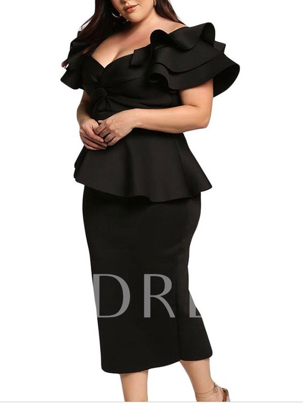 Sleeveless Sheath Black V-Neck Evening Dress 2019