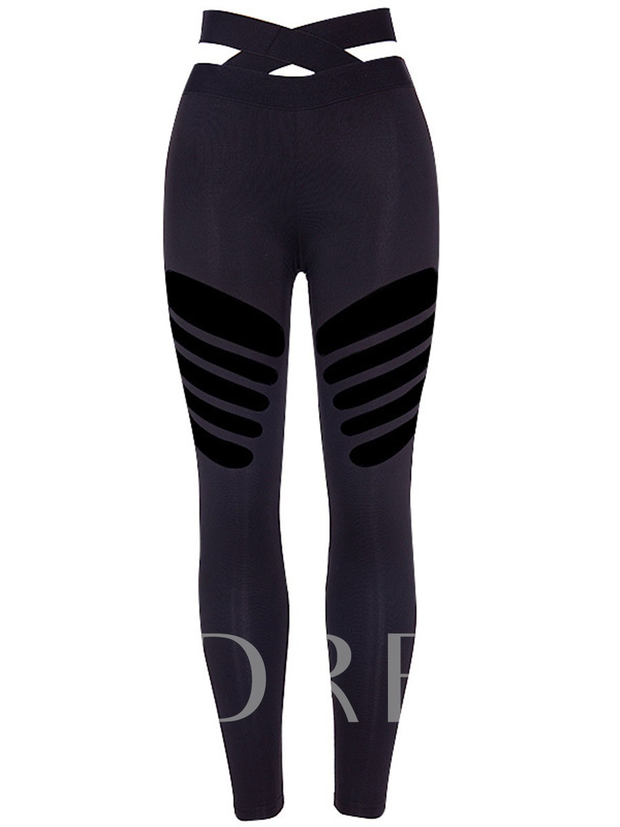 Hollow Running Yoga Leggings