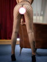 Sexy Plain Fishnet Crotchless Stockings