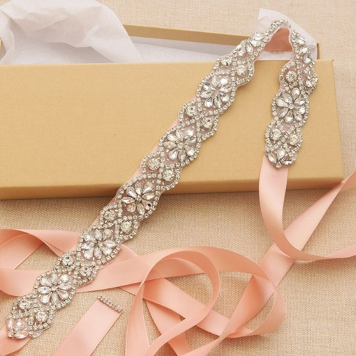 Ribbon Regular(2-4cm) Rhinestone Bridal Belt 2019