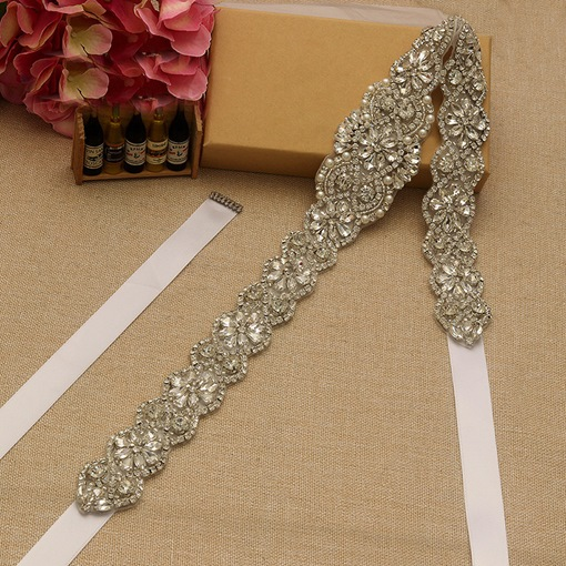 Ribbon Regular Rhinestone Bridal Belt 2019
