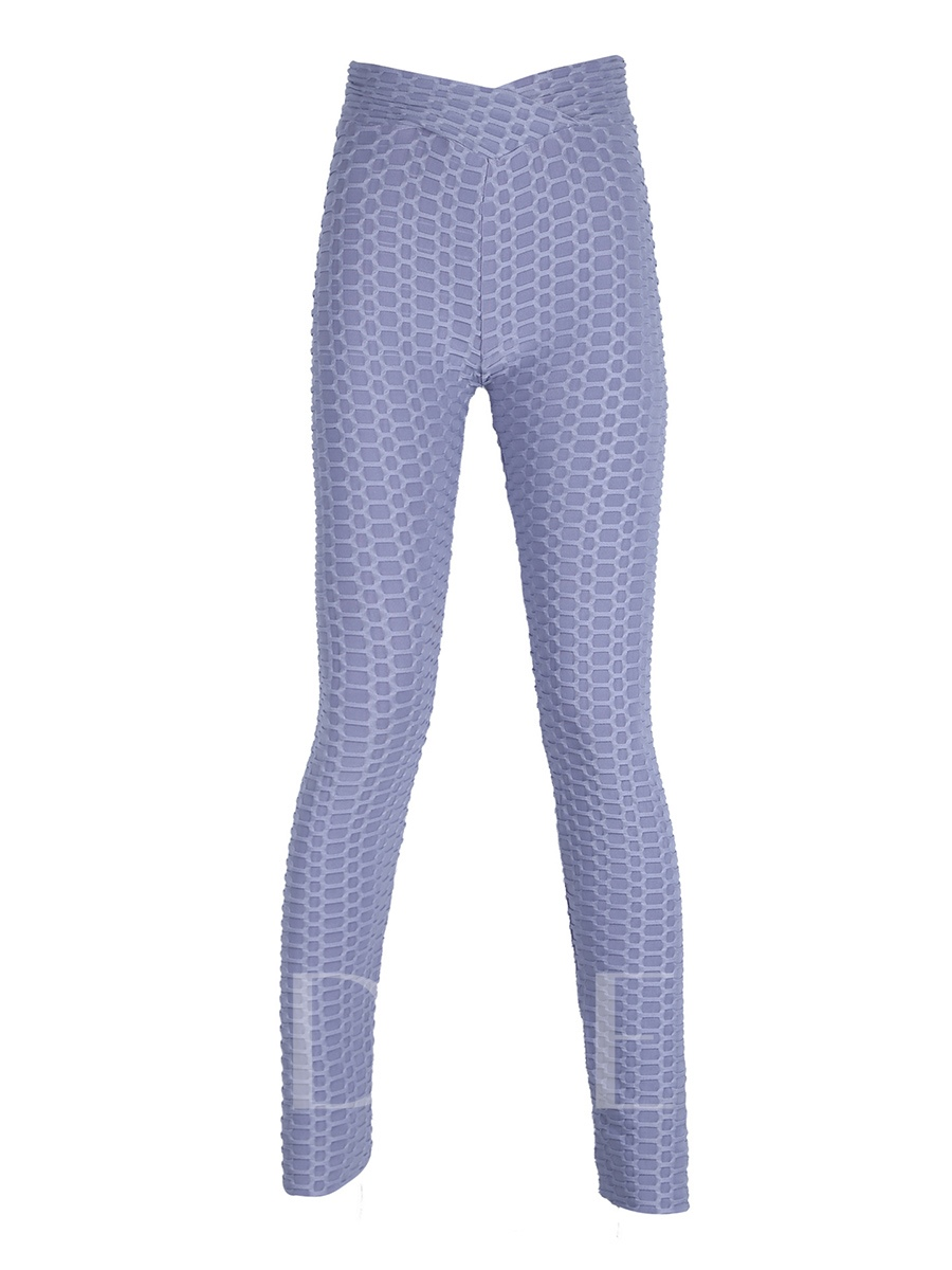 V-waist Jacquard Breathable Yoga Women's Leggings