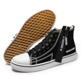 Round Toe Lace-Up High Top Zipper Women's Skate Shoes