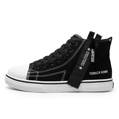 Round Toe Lace-Up High Top Zipper Womens Skate Shoes Round Toe Lace-Up High Top Zipper Women's Skate Shoes