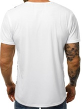 Casual Round Neck Color Block Hole Short Sleeve Men's T-shirt