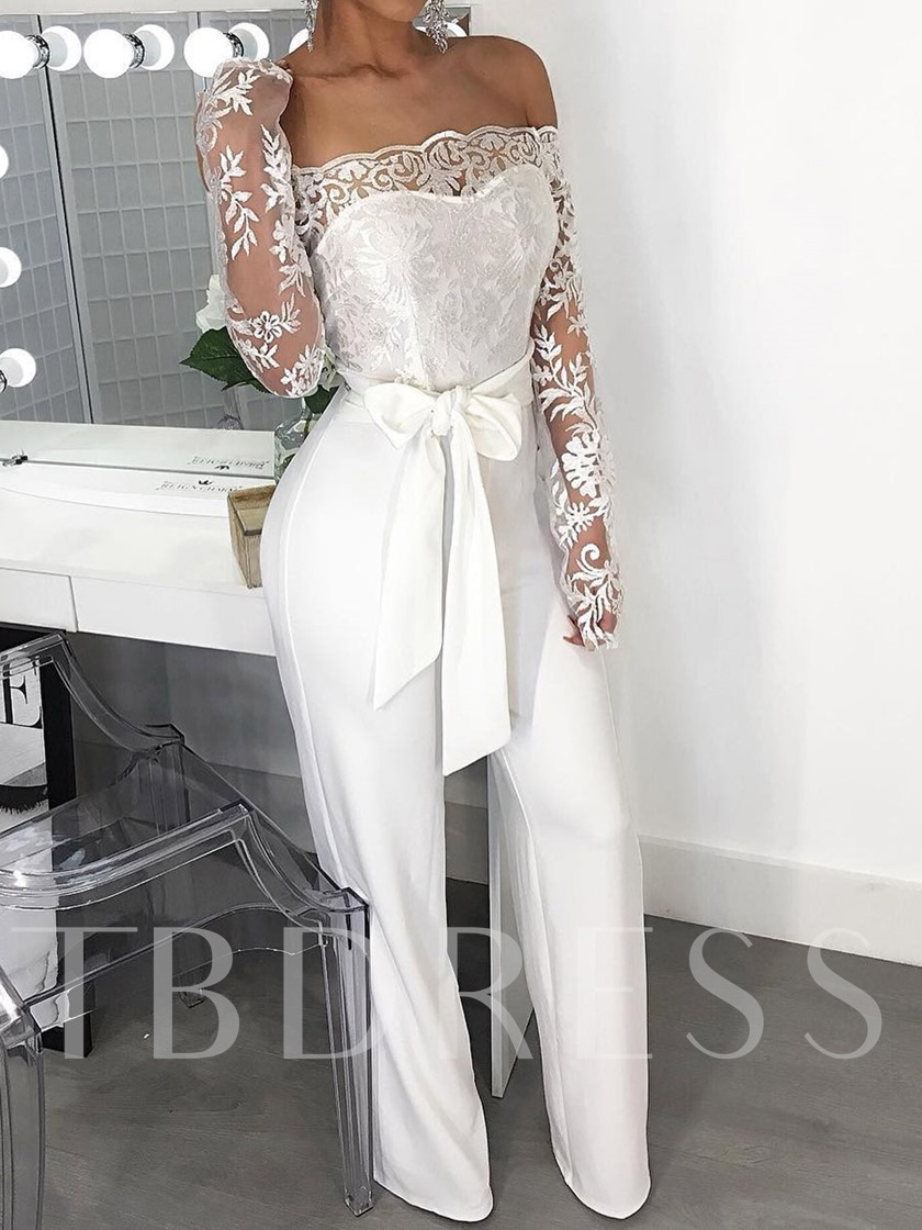 Full Length Sexy Hollow Plain High Waist Women's Jumpsuit