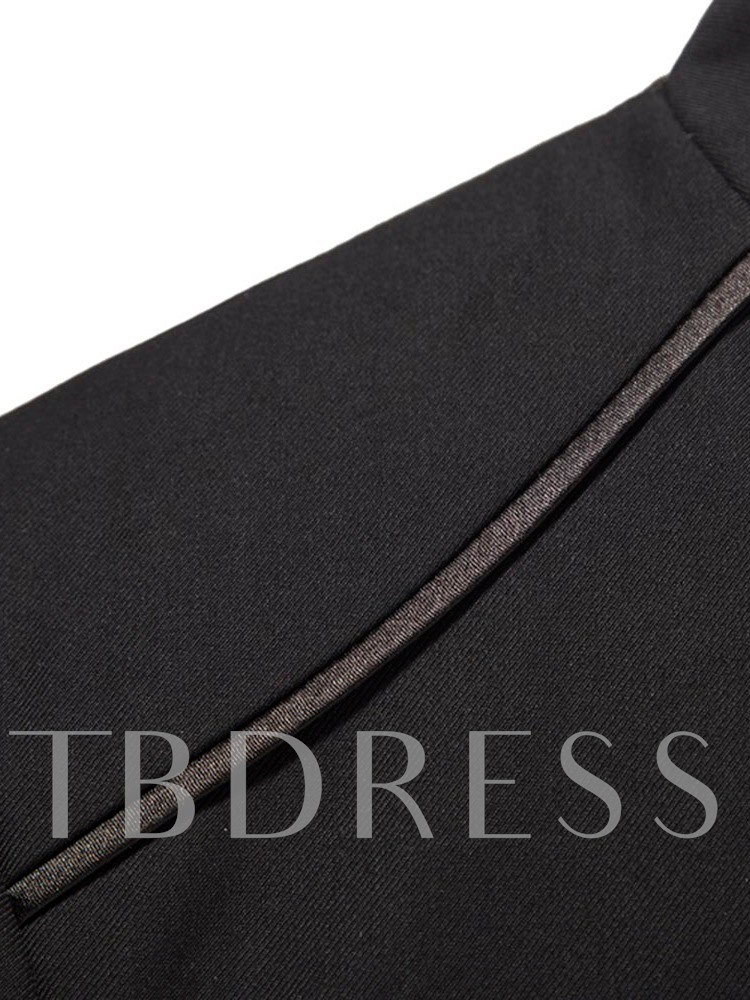 Fashion Pocket Single-Breasted Pants Men's Dress Suit