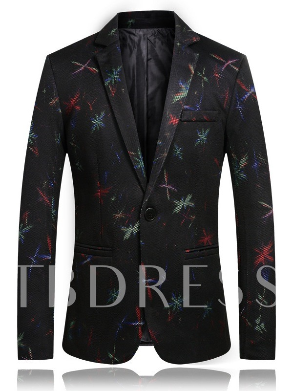 Fashion Slim Pocket Floral Men's leisure Suit