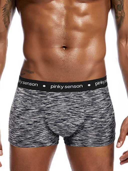 Print Cotton Low Waist Men's Underwear