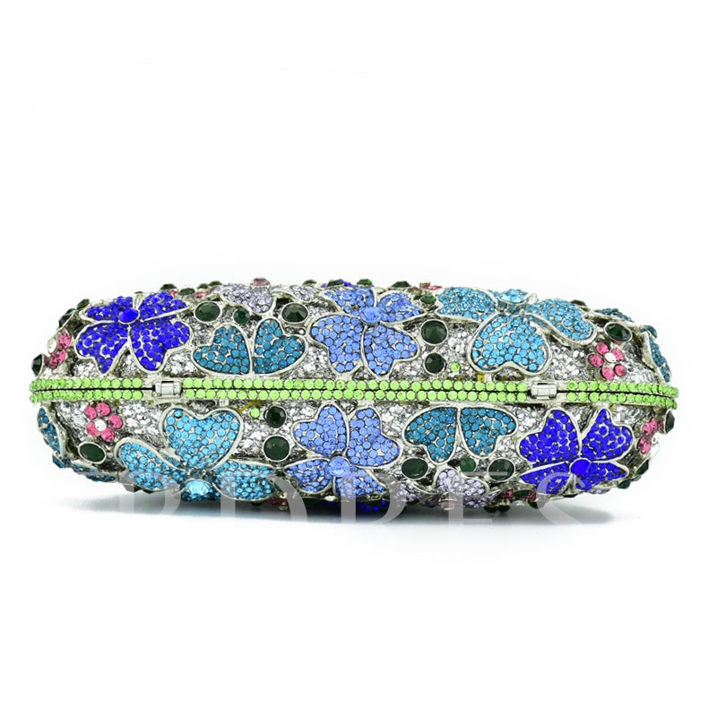 Floral PU Banquet Clutches & Evening Bags