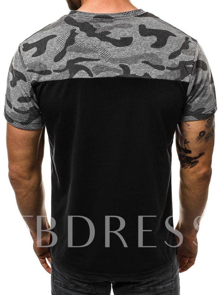 Round Neck Letter Print Short Sleeve Casual Men's T-shirt