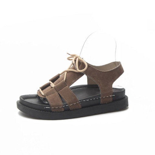 Ankle Strap Open Toe Lace-Up Ugly Sandals