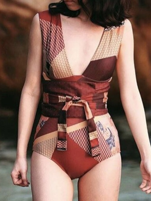 Print One Piece Sexy Women's Swimwear