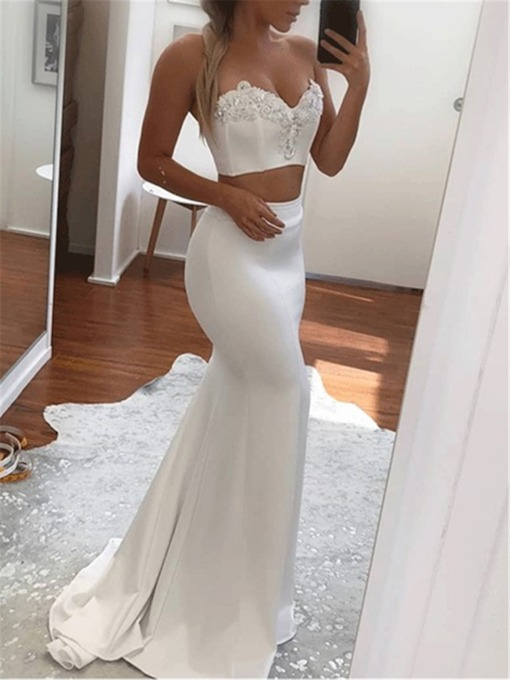 Beading Floor-Length Trumpet Sweetheart Evening Dress 2019