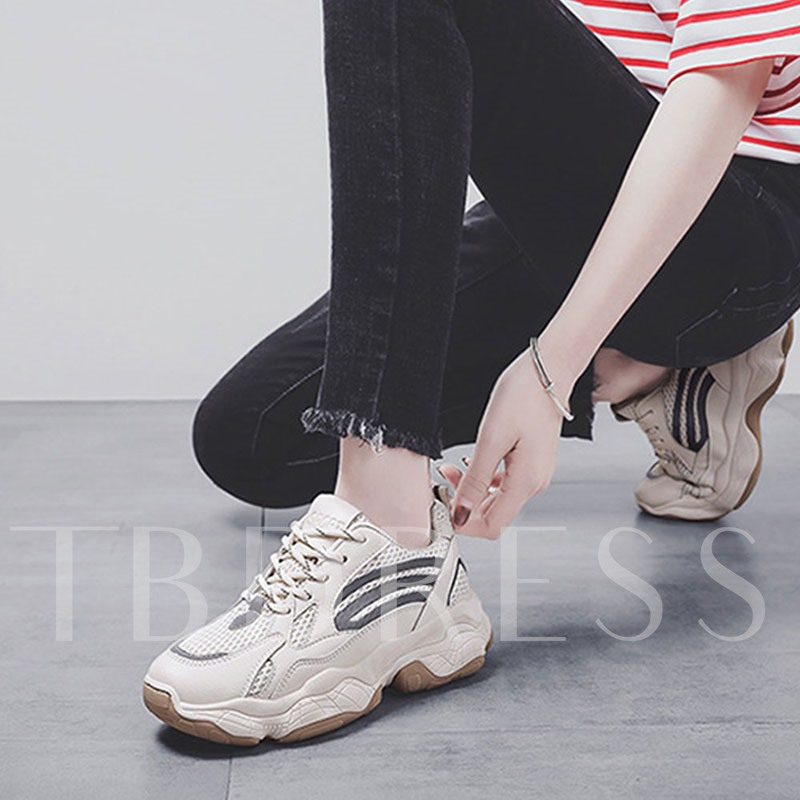 Lace-Up Color Block Chic Women's Sneakers