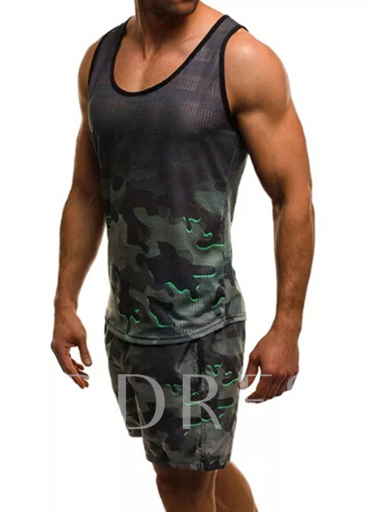 Pocket Vest Camouflage Sports Summer Men's Outfit