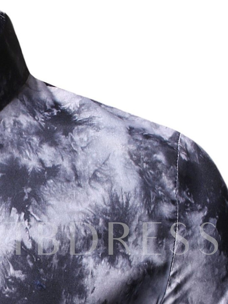 Floral Button Casual Lapel Single-Breasted Men's Shirt