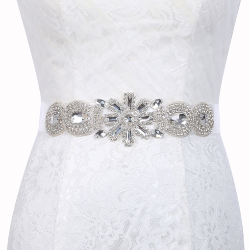 Polyester Regular(2-4cm) Mosaic Bridal Belt 2019