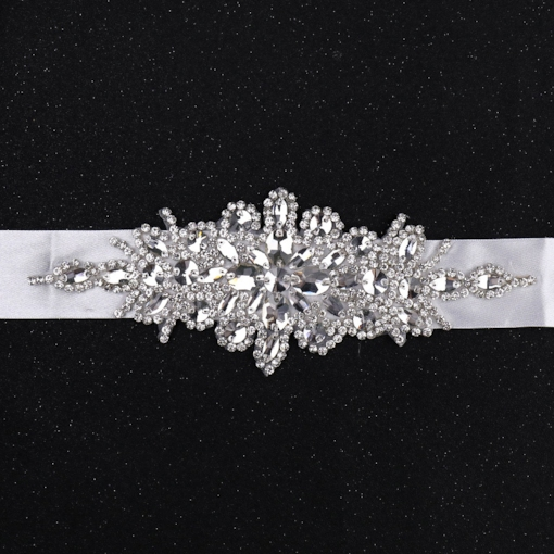 Regular(2-4cm) Fabric Mosaic Bridal Belts 2019