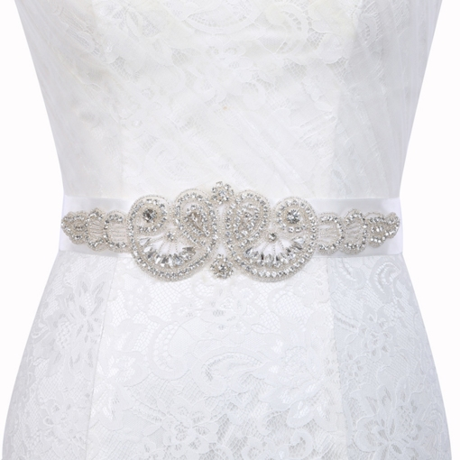 Rhinestone Regular(2-4cm) Polyester Bridal Belts 2019
