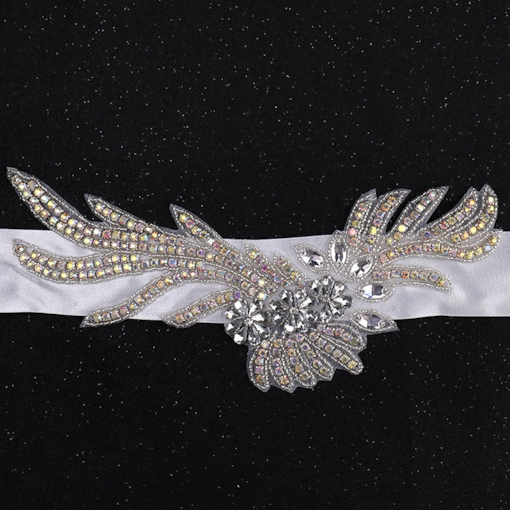 Fabric Wide Belt(>4cm) Rhinestone Bridal Belts 2019