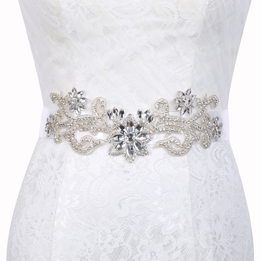 Polyester Regular(2-4cm) Beading Bridal Belt 2019