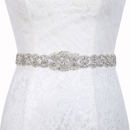 Regular(2-4cm) Polyester Mosaic Bridal Belts 2019