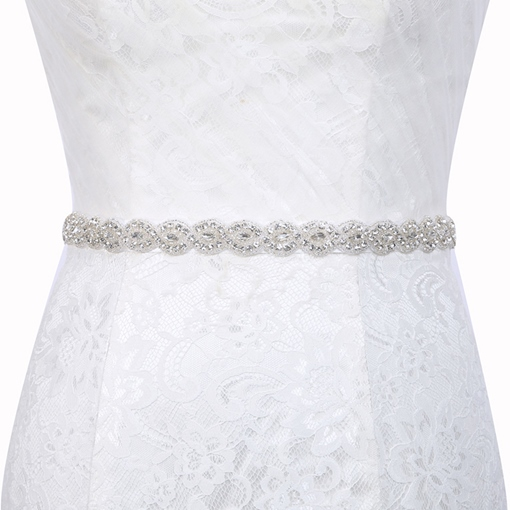 Regular(2-4cm) Polyester Rhinestone Bridal Belt 2019