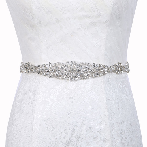 Regular(2-4cm) Polyester Mosaic Bridal Belt 2019