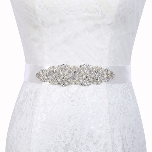 Wide Belt(>4cm) Polyester Mosaic Bridal Belts 2019