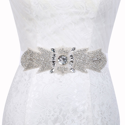 Wide Belt(>4cm) Polyester Rhinestone Bridal Belt 2019