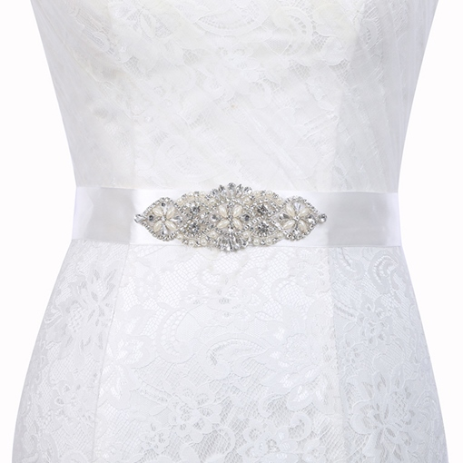 Wide Belt(>4cm) Polyester Mosaic Bridal Belt 2019