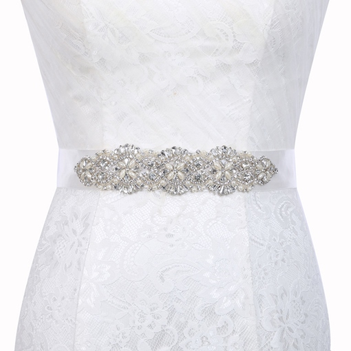 Wide Belt(>4cm) Polyester Beading Bridal Belts 2019