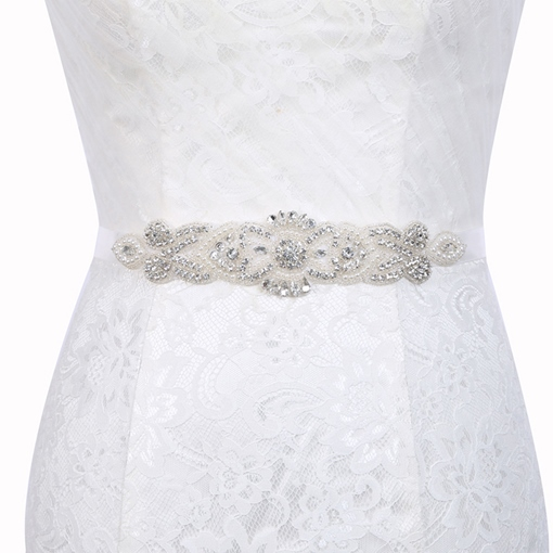 Regular(2-4cm) Polyester Beading Bridal Belt 2019