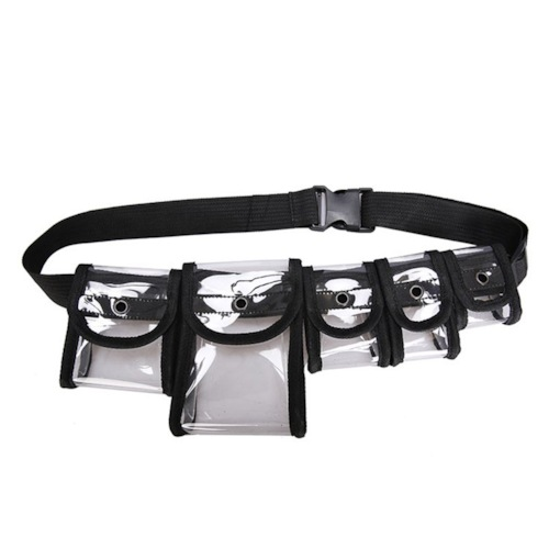 Clear Rectangle Cartridge Shoulder Bags