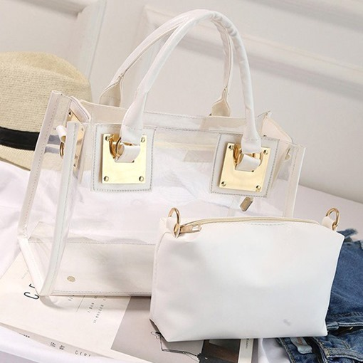 Clear Plain Flap Soft Crossbody Bags