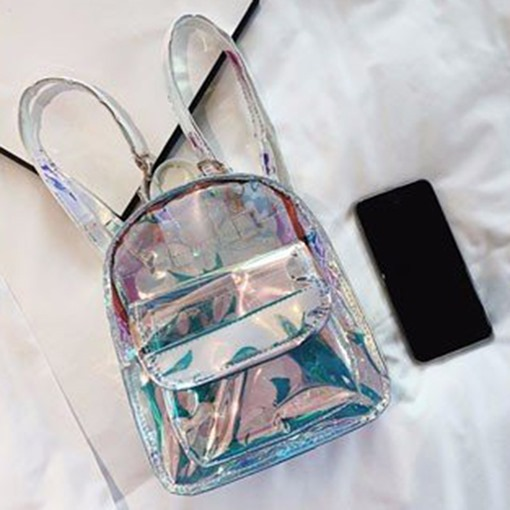 Clear ABS Plastic Thread Backpacks