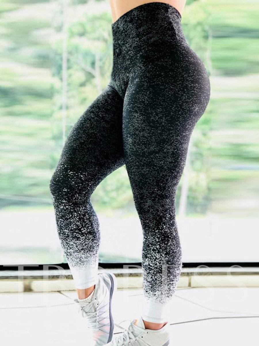 Women's Gradient Gypsophila Breathable Yoga Leggings