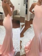 Halter Backless Mermaid Bridesmaid Dress 2019