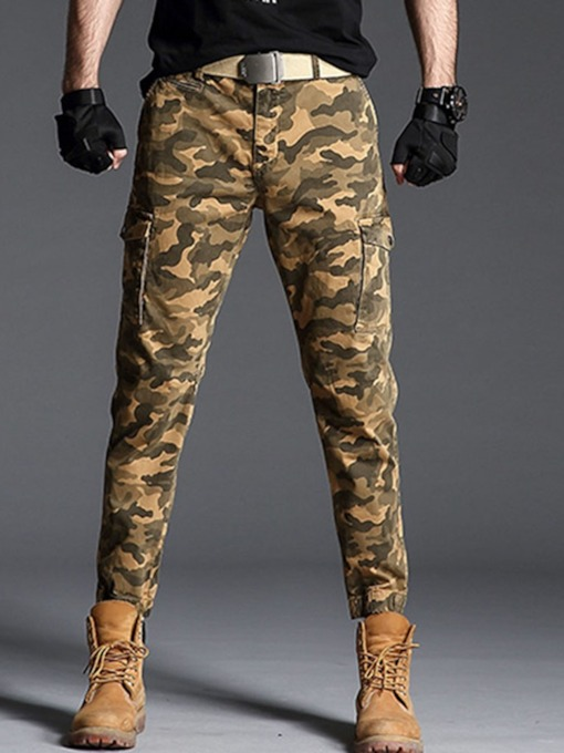 Camouflage Pocket Spring Men's Casual Pants