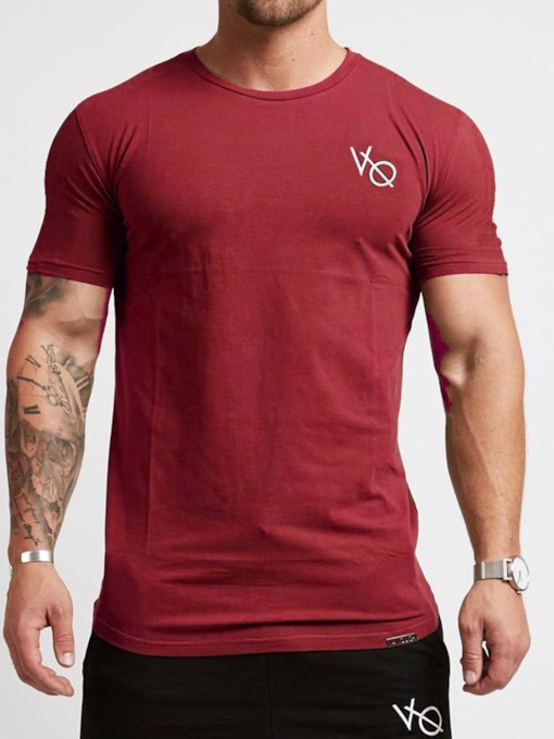 Men's Print Short Sleeve Pullover Sports Tops