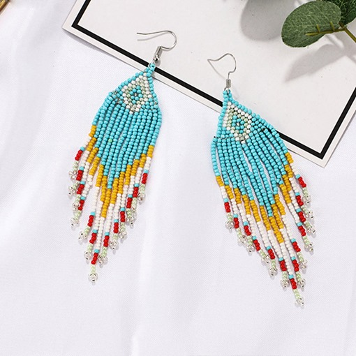 Handmade Bohemia Vintage Beads Tassel Earrings