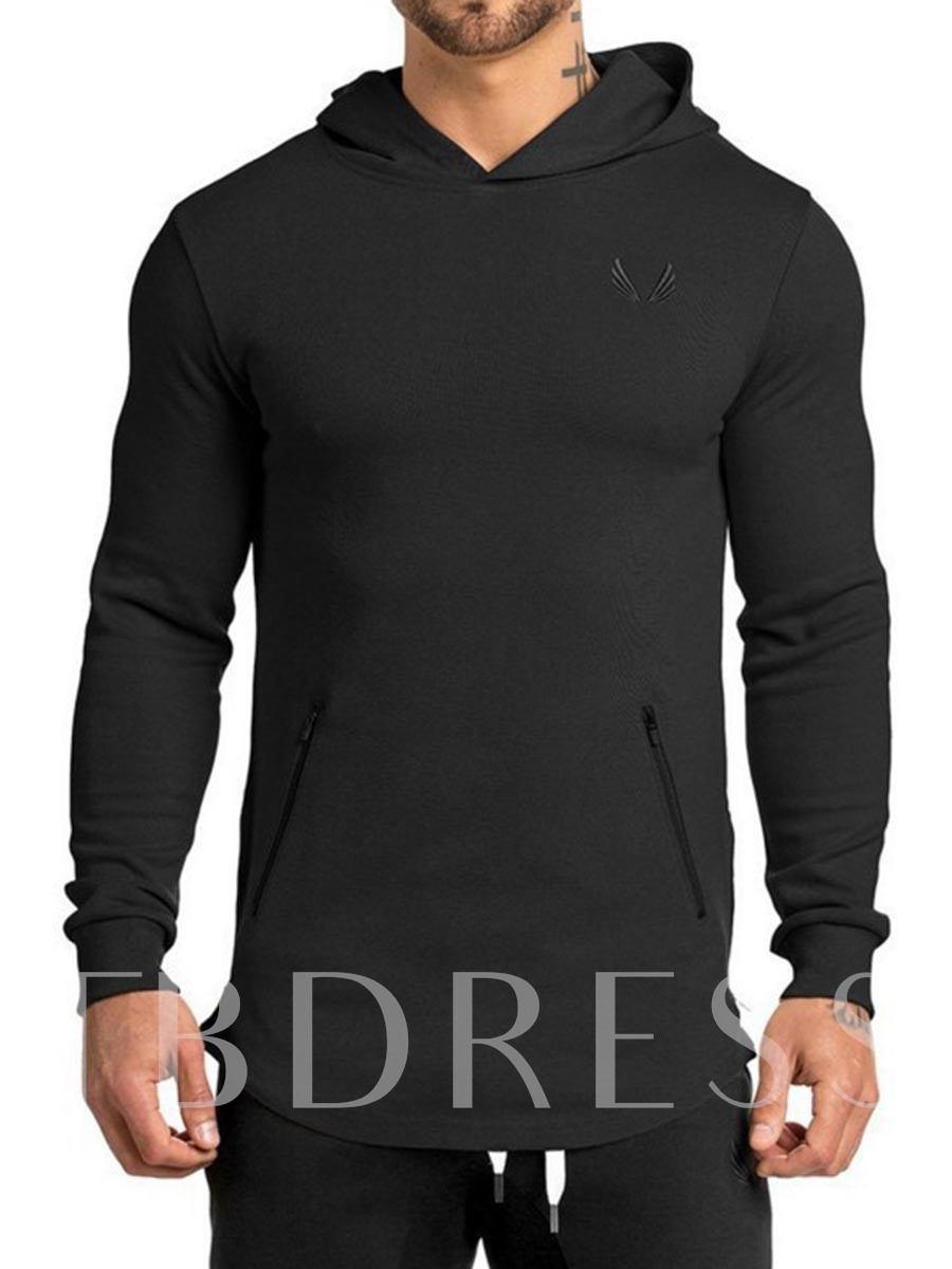 Men's Print Long Sleeve Pullover Workout Tops