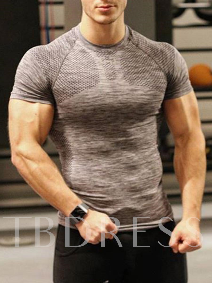Men's Anti-Sweat Short Sleeve Workout Tops