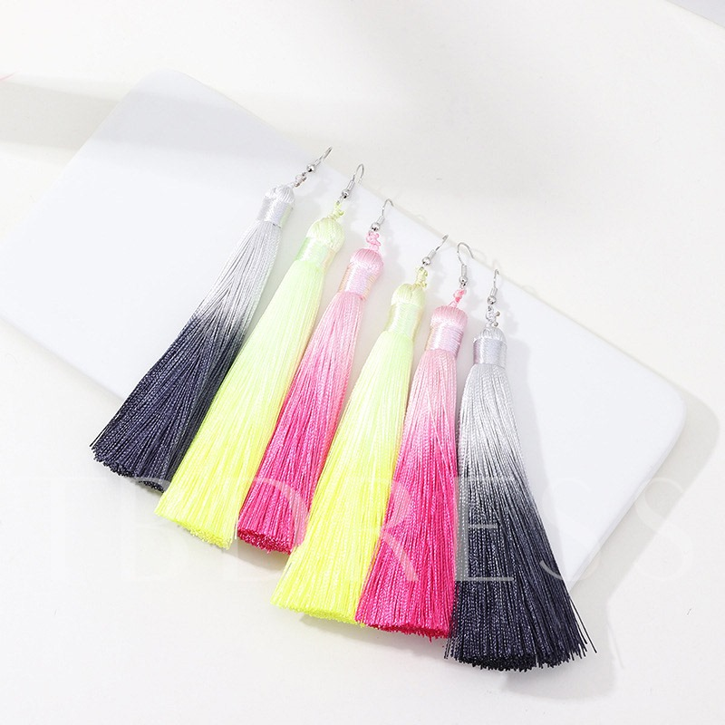 Multi Color Tassel Summer Ethnic Earrings