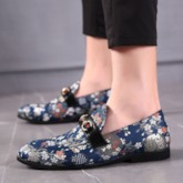 Floral Slip-On Low-Cut Upper Men's Prom Shoes