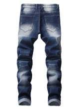 Thin Button Casual Men's Jeans