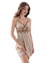Plain Lace Sexy Women's Nightgown